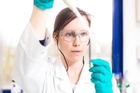Scientist performing biopharma research