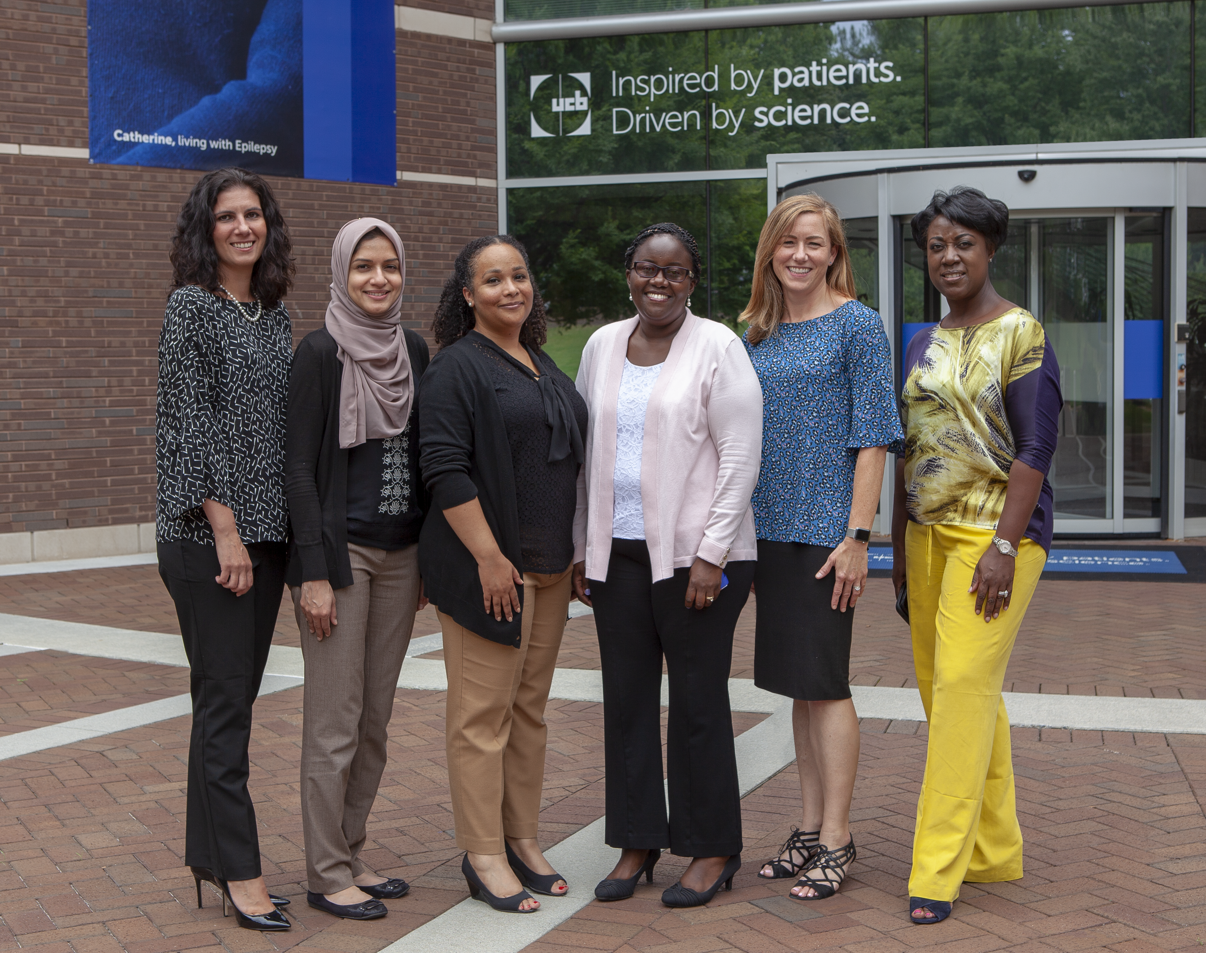 Six of the fellowship preceptors standing in a line